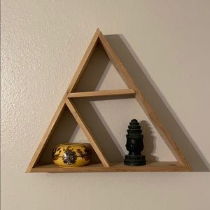 Triangle Wooden Wall Shelf